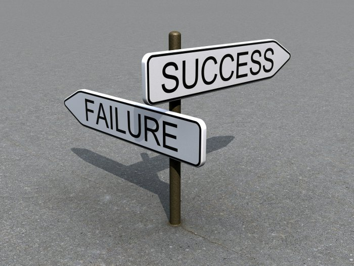 Sign-Success-Failure-Direction-Business