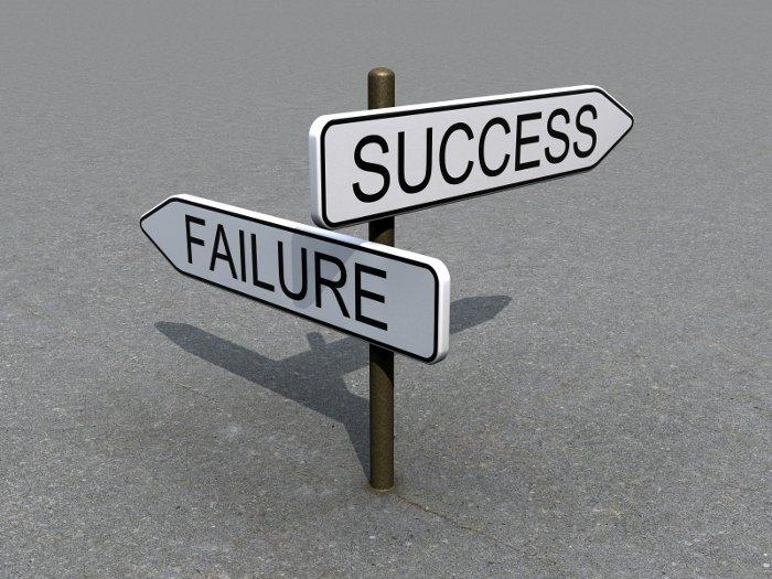 Sign-Success-Failure-Direction-Business